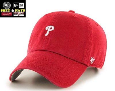 [SREY帽屋]預購*47 Brand CLEAN UP Base Runner 小LOGO 費城費城人 棒球帽 老帽