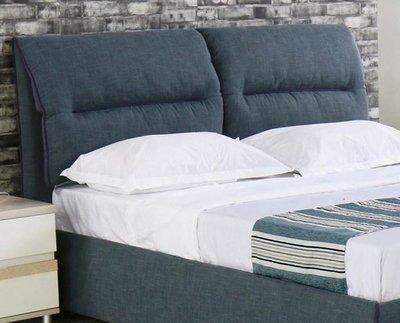 【DH】商品貨號N574-4商品名稱《德艾》5尺雙人灰藍色布造型床片(圖一)不含床底另計。細膩雅緻線條。主要地區免運費