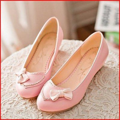 包鞋*鞋館Shoes hall*【A12122】 率性穿搭~優雅撞色蝴蝶結厚底包鞋~3色~