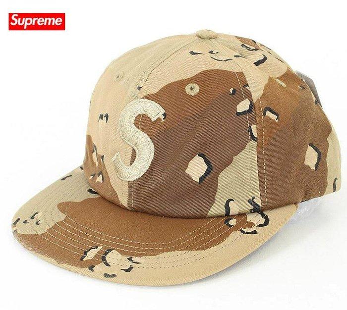 【超搶手】全新正品 2017 最新款 Supreme Tonal S Logo 6-Panel 刺繡S 六分帽 迷彩