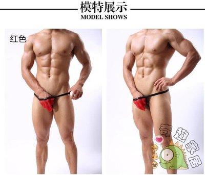男士性感低腰透明露臂露毛單丁字內褲秋季上新