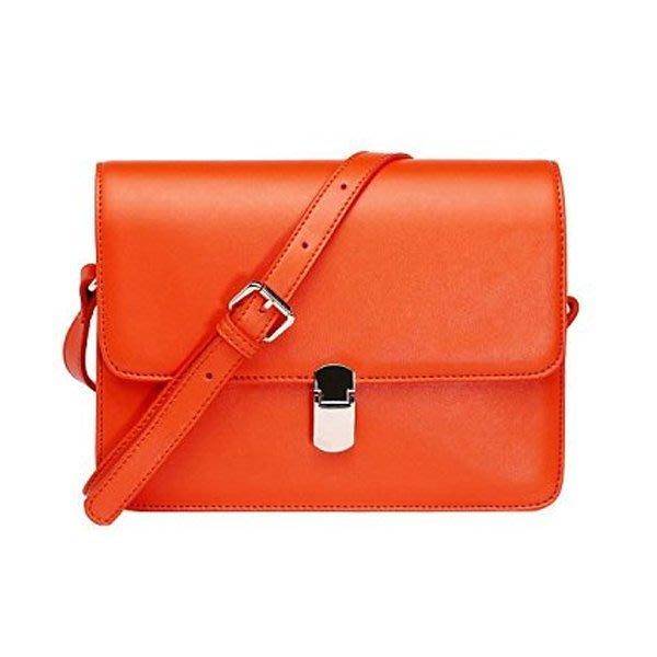 5Cgo【鴿樓】會員有優惠  22692108864 Viney2013新款女包 韓版複古斜背包 牛皮糖果色郵差包包