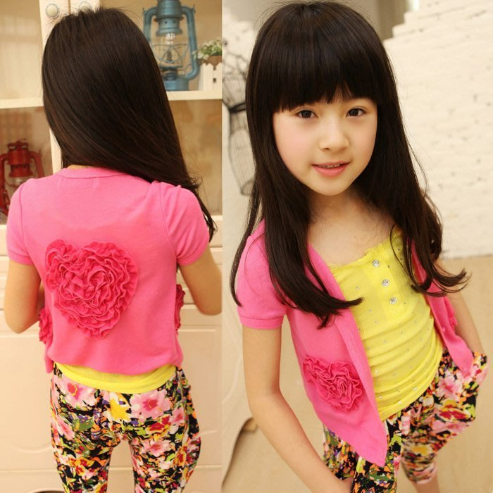 韓版《愛心玫瑰款》短版小外套 (L1-3)