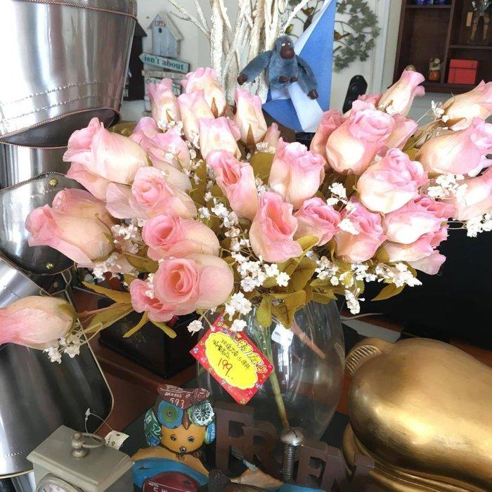 玫瑰花束 | 擺飾庭院花台盆栽母親節禮品假花送人攝影 [布拉格家居]