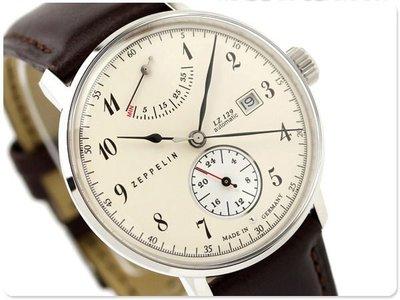 ZEPPELIN 齊柏林飛船 手錶 機械錶 LZ129 40mm 德國 飛行錶 航空錶 7060-4