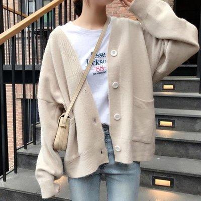 復古毛衣外套開衫秋冬女學生小個子韓版寬鬆慵懶風洋氣百搭針織衫 【雙旦狂歡購】
