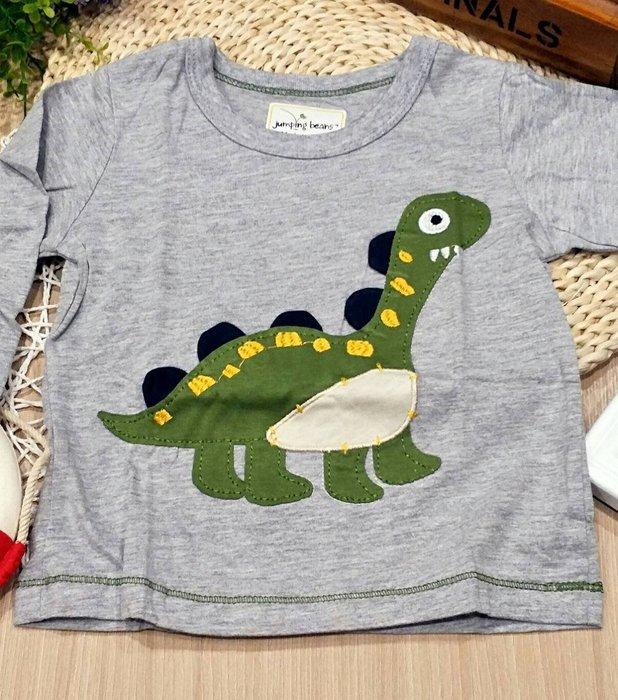 ☆草莓花園☆BM-2438 綠恐龍 男童長T 純棉童裝 歐美風兒童長袖衣服 純棉童T  童T恤