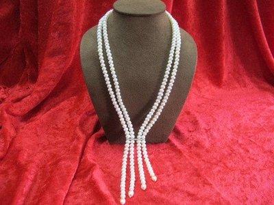 二手舖~ NO.12 天然珍珠項鍊 母親節 手鍊戒指墜子首飾手環耳環 (珍珠大小約5-7mm)