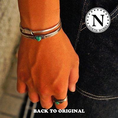 Back to Original【North Works】日本匠人手作 銀絲纏繞松石 摩根銀幣手環