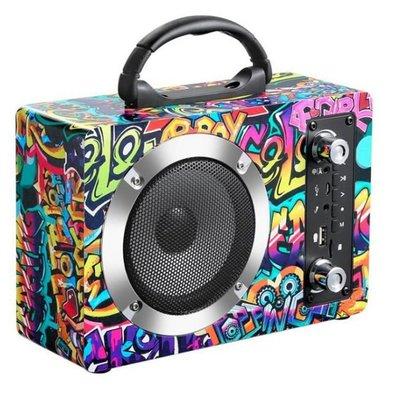 【Love Shop】KU01木質藍牙音箱大功率手提戶外便攜無線K歌音響插卡收音機播放機