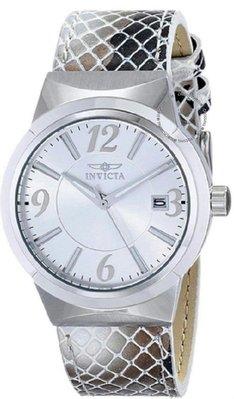 展示品 Invicta 17297 Angel Date Silver Grey Metallic Leather Strap Womens Watch 女錶 台中市