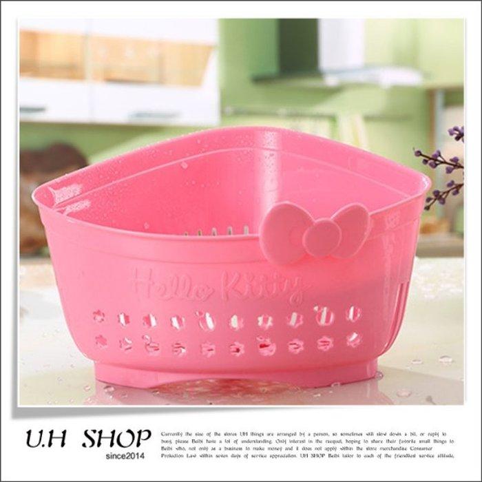【 U.H SHOP】HELLO KITTY 凱蒂貓 多功能收納瀝水籃