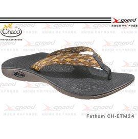 【速捷戶外】【Chaco】 美國專業戶外運動休閒拖鞋、沙灘鞋 男 Fathom CH-ETM24 (咖啡格紋)