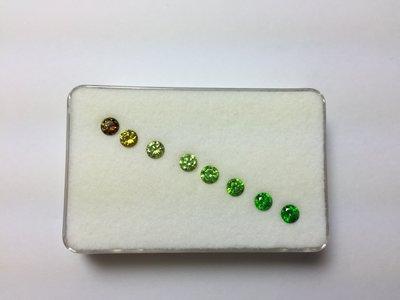 【Texture & Nobleness 低調與奢華】天然無處理 俄羅斯翠榴石 -8顆一組共1.89克拉 (已蒙收藏)