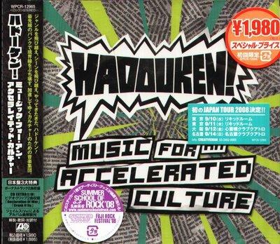 K - Hadouken Music For An Accelerated Culture 日版 +2BONUS NEW