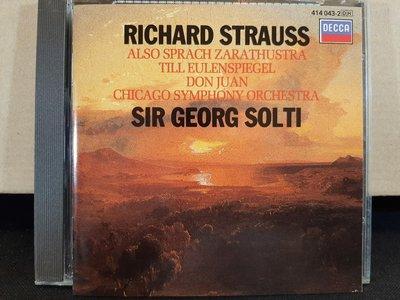 Solti,R.Strauss-Also Sprach Zarathustra,Don Juan,蕭提,理查.史特勞斯-查拉圖斯塔如是說,唐璜,泰爾惡作劇,如新