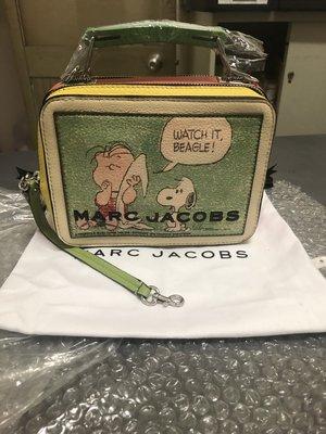 【全新正貨私家珍藏】MARC JACOBS X  PEANUTS®  THE MINI BOX BAG (現貨)史努比