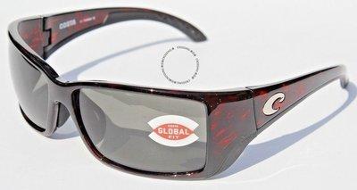 COSTA DEL MAR Blackfin 580 POLARIZED太陽眼鏡烏龜/灰色580G Global Fit