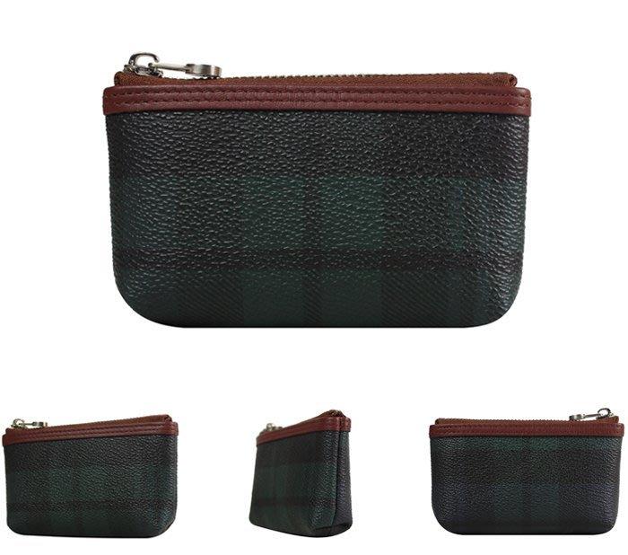 【橘子包包館】SANTA BARBARA POLO 綠格 零錢包/鑰匙包 SB38-01407 正式授權經銷商