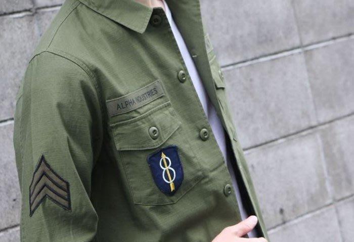 ☆AirRoom☆【現貨】日版 ALPHA SHIRTS WAPPEN 軍綠 襯衫 口袋 TS5021-021