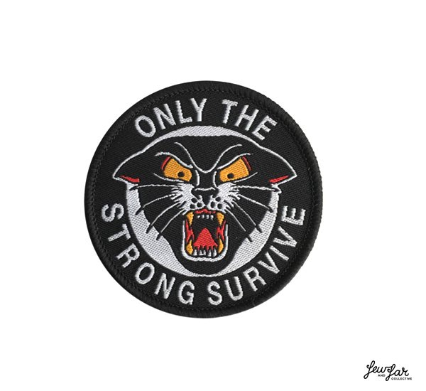 GOODFORIT / 澳洲 Few & Far Only The Strong Survive Patch黑豹電鏽貼布