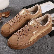 D-BOX PUMA Basket Platform 棕色 卡基 麂皮 厚底 復古休閑鞋 女松糕鞋