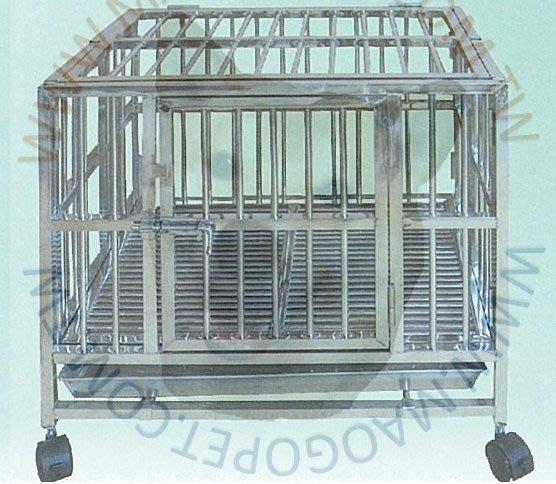 3台尺 折合式白鐵摺疊籠 S203不銹鋼圍片籠 掀頂不鏽鋼管籠 狗籠 3X2尺(DK-0813)每件7,200元
