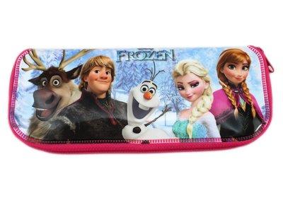 【卡漫迷】 冰雪奇緣 餐具袋 ㊣版 韓版 防水 拉鍊袋 鉛筆袋 餐筷袋 筷子袋 Frozen 艾莎 安娜 雪寶 Elsa