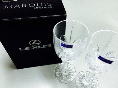 LEXUS 原廠全新 Lexus Marquis by Waterford 水晶玻璃杯 高腳杯2入