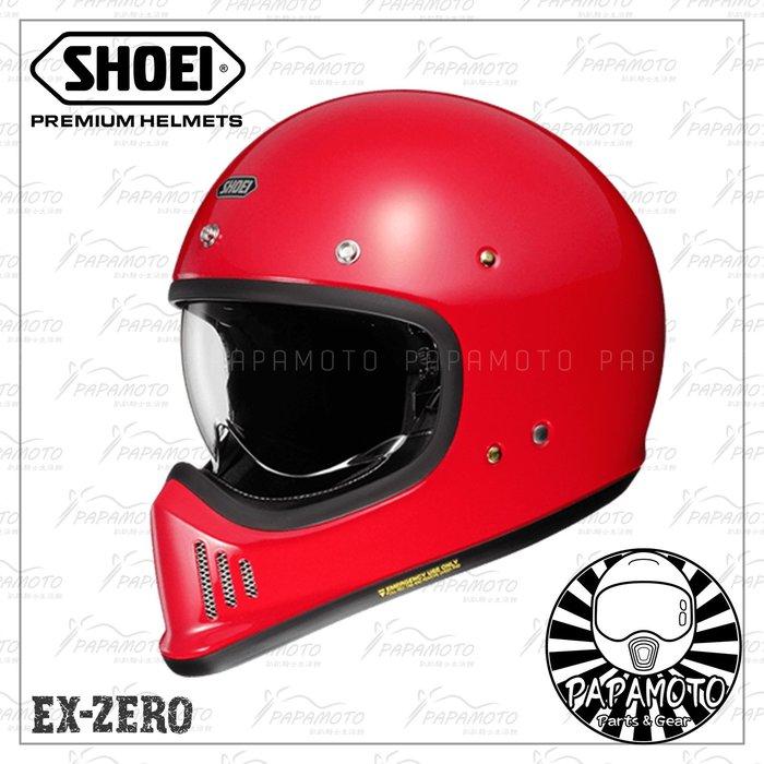 【趴趴騎士】SHOEI EX-ZERO 紅色 山車帽 復古越野安全帽