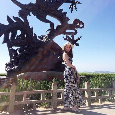 [ ohya梨花 ] =韓國帶回=最新春夏新款性感名媛花草露背交叉波西米亞連身裙長洋裝