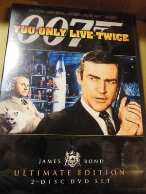 You Only Live Twice 007 雷霆谷 Sean Connery 史恩康納萊 2DVD