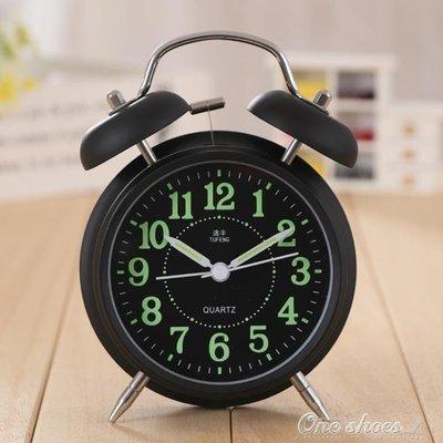 ZIHOPE 起床神器超大聲音簡約鬧鐘學生用創意懶人變態響靜音床頭夜光鬧鈴 ONE SHOEZI812