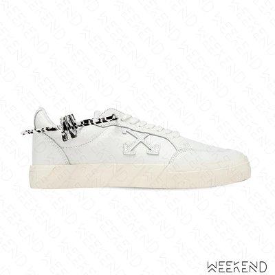 【WEEKEND】 OFF WHITE Vulcanized 皮革 休閒鞋 白色 20秋冬