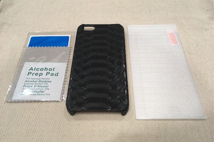 iPhone SE /5 /5S 蛇紋皮革保護殼