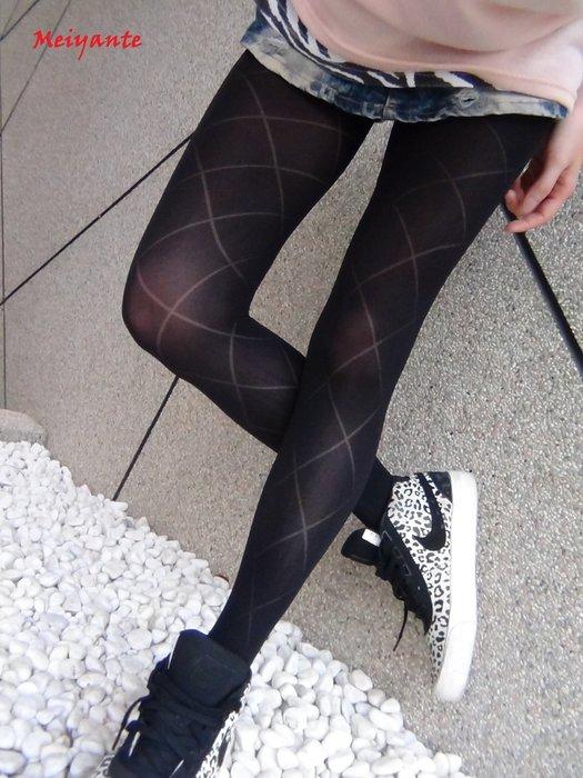 大菱格花紋襪 顯瘦 絲襪 褲襪 渼妍特襪品 褲襪絲襪 空姐專櫃OL最愛 透膚 熱銷多款時尚花紋 台灣製 Meiyante