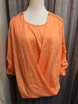 Calvin Klein 亮橘🍊雪紡長袖襯衫
