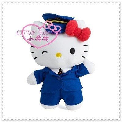 ♥小公主日本精品♥ Hello Kitty 台鐵太魯閣號-8吋站長絨毛娃娃 玩偶 12331406