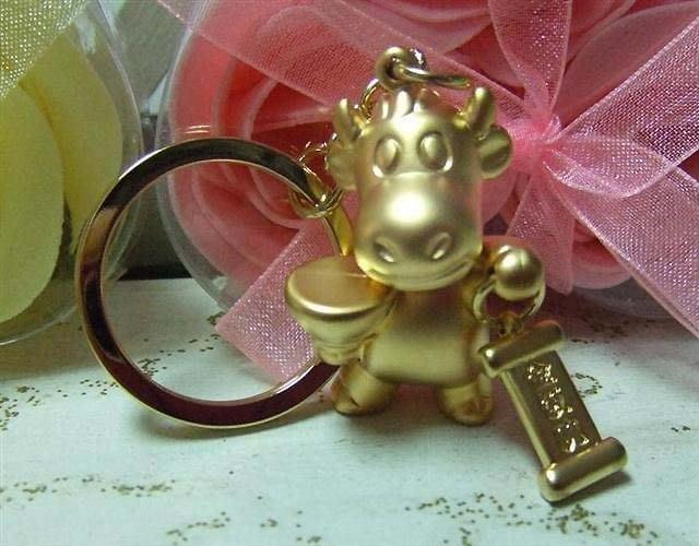 ☆創意特色專賣店☆ 金飯碗福牛 鑰匙扣/創意可愛金屬鑰匙圈 時尚造型個性飾品