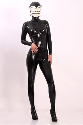 (ZH-CAT059) 天然材質乳膠/Latex 全包緊身衣 Cosplay Costume 顏色可選 新品