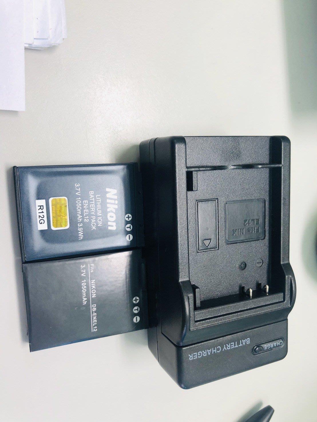 Nikon EN-EL12 for P300 P310 p330 p340 ENEL12 原廠電池+副廠電池+副廠充電器