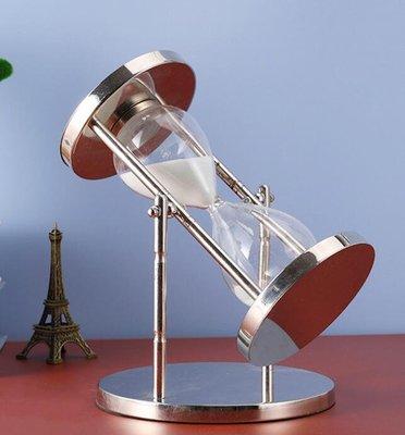 SUNNY雜貨-減壓解壓沙漏時光金屬生日計時器10分鐘沙漏擺件創意個性裝飾品