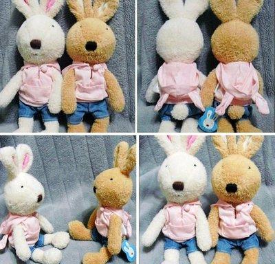 牛牛ㄉ媽*法國兔玩偶一對 帽T兔寶寶款 不拆開一起賣 30cm求婚送禮自用生日禮物