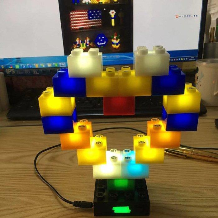 ☆║♥愷心小舖♥║☆ LIGHT STAX 創意樂高 DIY 發光 LED積木燈36P