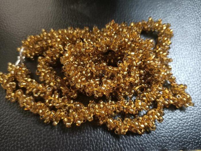 古董珠寶 金黃串珠 手工文創 骨董收藏 首飾項鍊