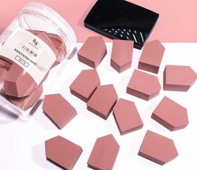 WHOORAN韓苒美妝蛋果凍房型海綿粉撲長方形粉底液化妝棉10粒粉撲