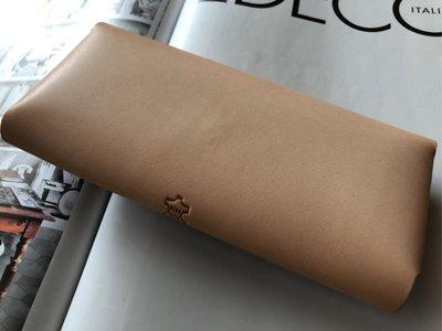 義大利Tono 真皮製作眼鏡袋/眼鏡盒,16/7.5/2.8