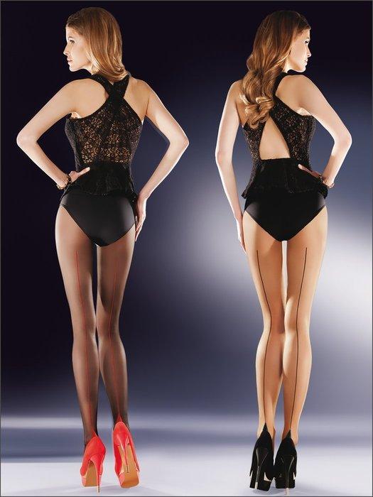 °☆就要襪☆°全新歐洲品牌 Gabriella Bella 背線古巴跟透明絲襪(20DEN)
