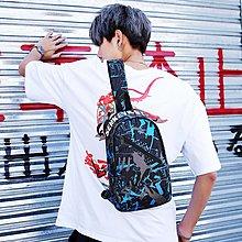 胸包男帆布包時尚胸前包多功能單肩斜跨包男士大容量運動背包潮牌【優品城】
