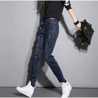 牛仔褲哈倫褲加絨款鬆緊腰大碼寬鬆顯瘦小腳褲(任選1件)_☆優購好SoGood☆
